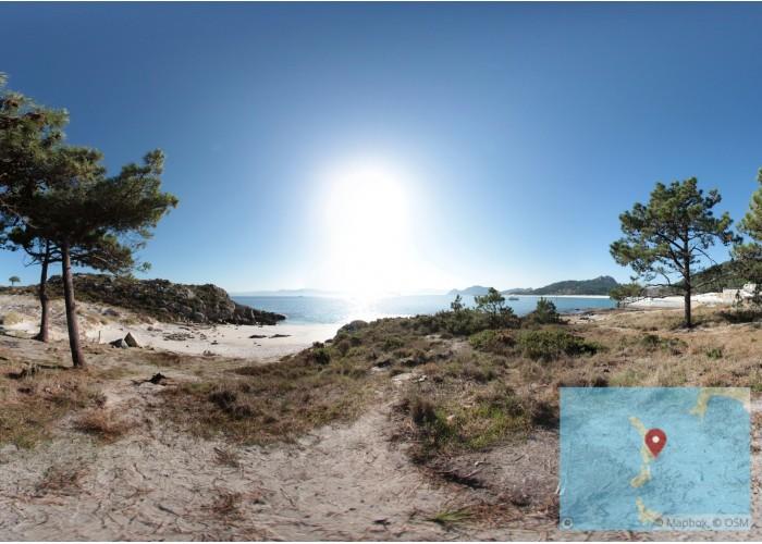 Acceso a playa de Areiña