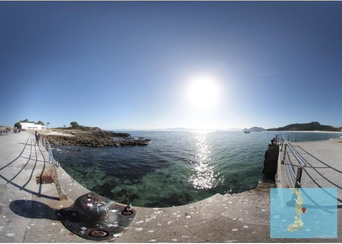 Muelles de llegada a Cíes